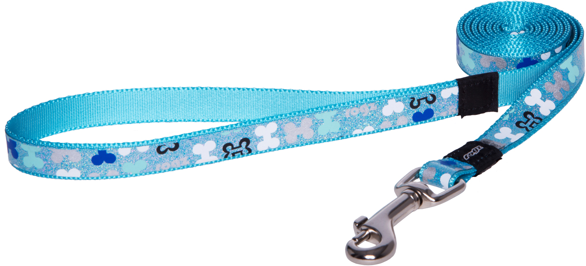 Поводок для собак Rogz Trendy, удлиненный, цвет: голубой, ширина 1,6 смHLL523BПоводок для собак Rogz Trendy с веселым и ярким дизайном очень прочный и гибкий.Светоотражающие материалы для обеспечения лучшей видимости собаки в темное время суток.