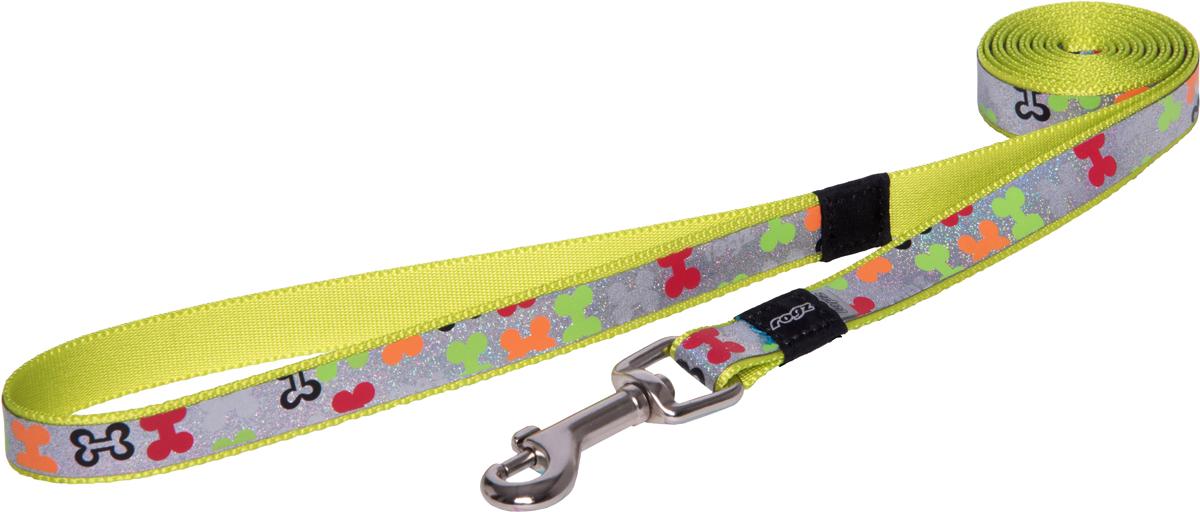 Поводок для собак Rogz Trendy, удлиненный, цвет: салатовый, ширина 1,6 смHLL523LПоводок для собак Rogz Trendy с веселым и ярким дизайном очень прочный и гибкий.Светоотражающие материалы для обеспечения лучшей видимости собаки в темное время суток.