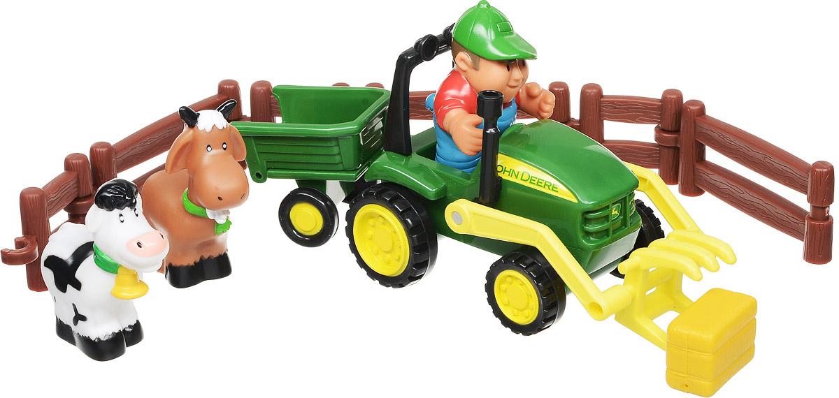Tomy Игровой набор Моя первая ферма с трактором машинки tomy трактор john deere monster treads с большими резиновыми колесами tomy