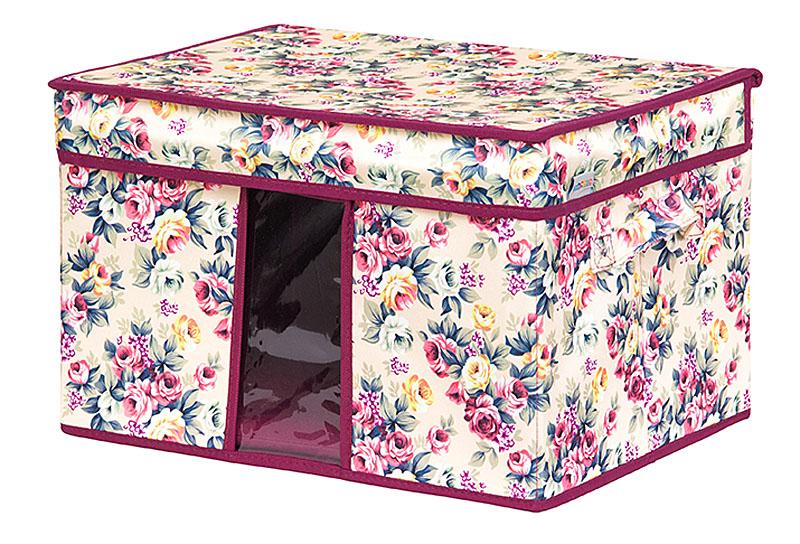 Кофр для хранения вещей EL Casa Розовый букет, складной, 40 х 30 х 25 см840347Кофр для хранения с ручками. Прозрачная вставка позволяет видеть содержимое кофра. Благодаря эстетичному дизайну кофр гармонично смотрится в любом интерьере.