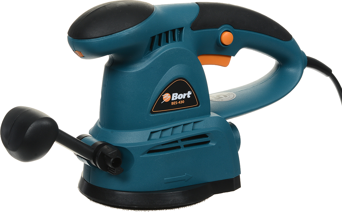 Шлифмашина эксцентриковая Bort, цвет: голубой. BES-430 шлифовальная машина bort bws 1000 r