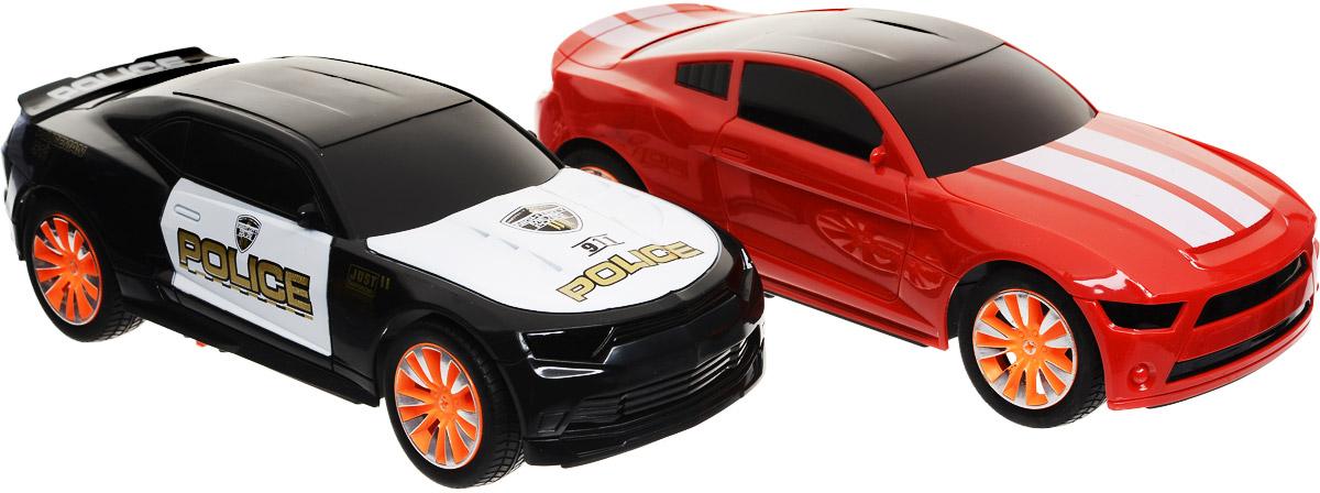 Yako Набор машинок на радиоуправлении Автотаран Полиция цвет красный черный 2 шт - Радиоуправляемые игрушки