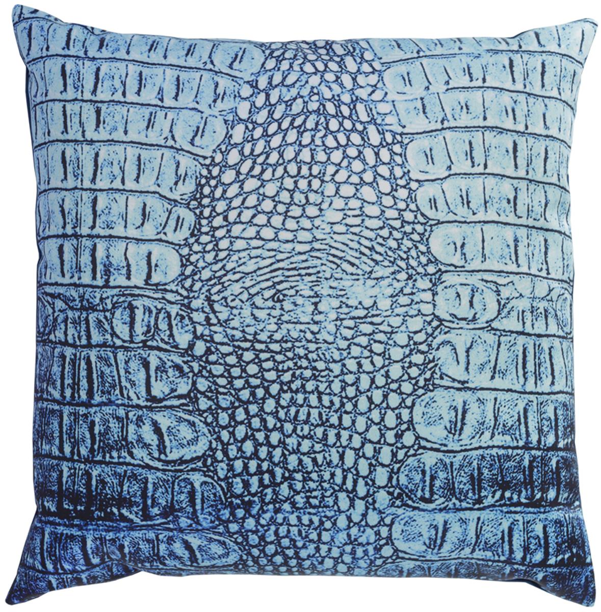 Подушка декоративная GiftnHome Крокодил, цвет: голубой, 35 х 35 смPLW-35 Croco(bm)Подушка декоративная GiftnHome Крокодил прекрасно дополнит интерьер спальни или гостиной. Чехол подушки выполнен из атласа (искусственный шелк) и оформлен изысканным орнаментом. В качестве наполнителя используется мягкий холлофайбер. Чехол снабжен потайной застежкой-молнией, благодаря чему его легко можно снять и постирать. Красивая подушка создаст атмосферу уюта в доме и станет прекрасным элементом декора.