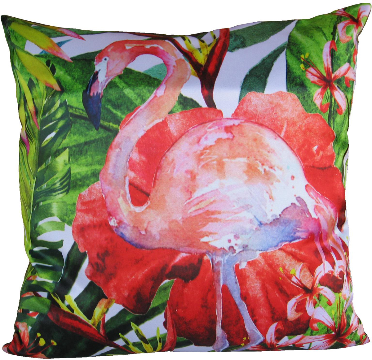 Подушка декоративная GiftnHome Фламинго, цвет: красный, 35 х 35 смPLW-35 FlamingoПодушка декоративная GiftnHome Фламинго прекрасно дополнит интерьер спальни или гостиной. Чехол подушки выполнен из атласа (искусственный шелк) и оформлен изысканным орнаментом. В качестве наполнителя используется мягкий холлофайбер. Чехол снабжен потайной застежкой-молнией, благодаря чему его легко можно снять и постирать. Красивая подушка создаст атмосферу уюта в доме и станет прекрасным элементом декора.