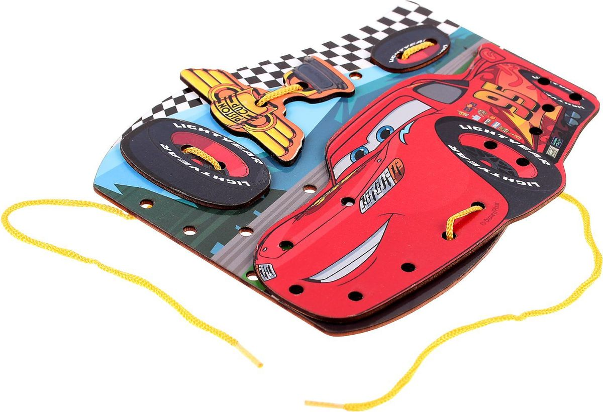 Фото Disney Игра-шнуровка Самый быстрый Тачки