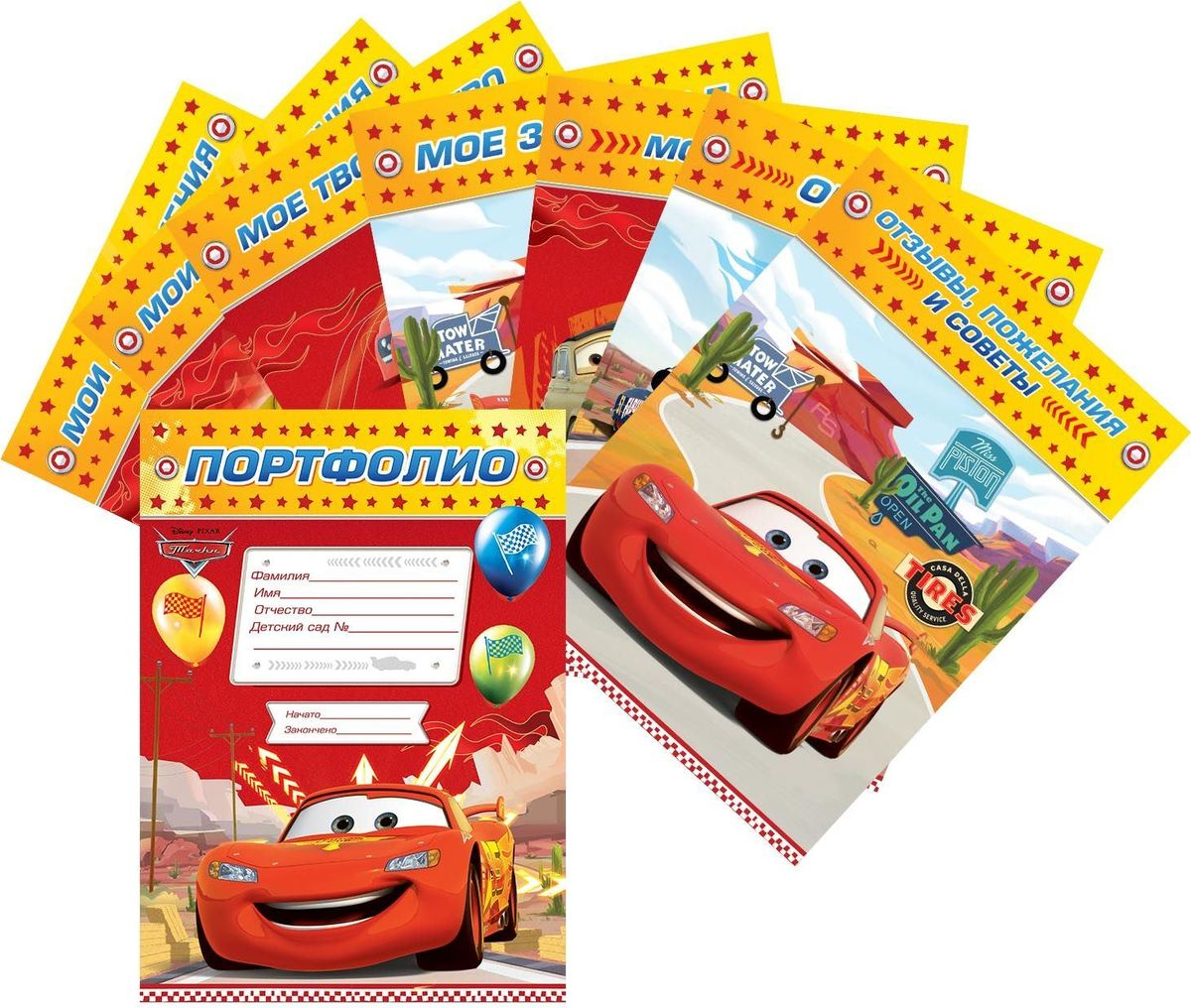 Disney Листы-разделители Тачки Детский сад 8 шт гарньер 111 отзывы с фото