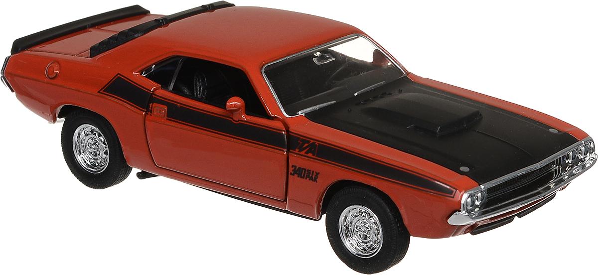 Welly Модель автомобиля 70 Dodge Challenger цвет оранжевый
