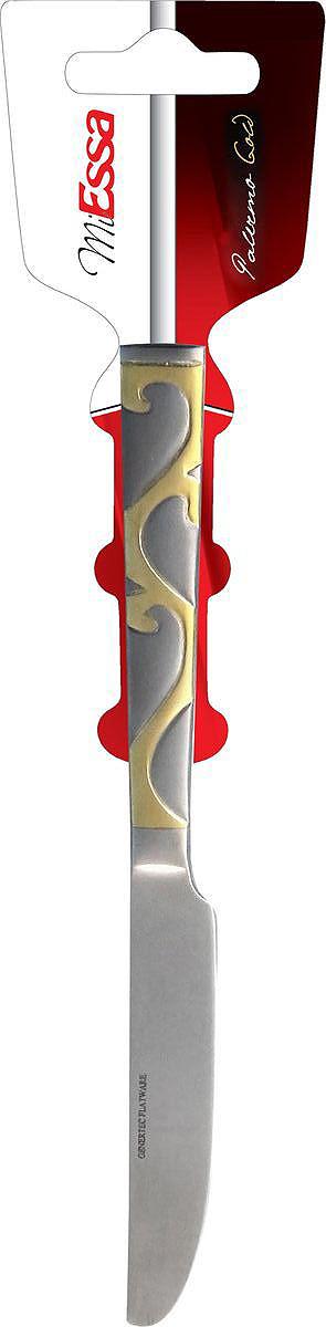 """Набор MiEssa """"Palermo Gold"""" состоит из 3 ножей, выполненных из высококачественной  нержавеющей стали. Высокая степень полировки  придает изделиям безупречный внешний вид и  яркий блеск. Приборы устойчивы к деформациям и  воздействию любых сред, долгое время сохраняют превосходный вид.  Благодаря качеству исполнения и лаконичному  дизайну, ножи идеально подойдут как для  торжественных случаев, так и для ежедневного  использования."""