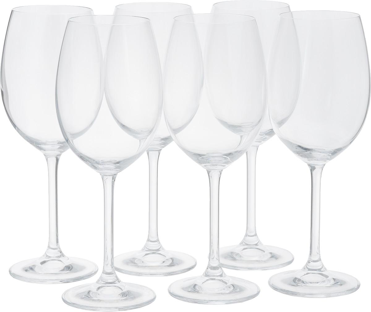 Набор бокалов для красного вина Tescoma Charlie, 450мл, 6штVT-1520(SR)Набор Tescoma Charlie состоит из 6 бокалов, выполненных из прочногонатрий-кальций-силикатного стекла. Изделия оснащенывысокими ножками и предназначены для подачи красного вина. Онисочетают в себе элегантный дизайн и функциональность.Набор бокалов Tescoma Charlie прекрасно оформит праздничный стол и создастприятную атмосферу за романтическим ужином. Такой набор также станетхорошим подарком к любому случаю. Можно мыть в посудомоечной машине. Высота бокала: 22,5 см. Диаметр бокала (по верхнему краю): 6 см.