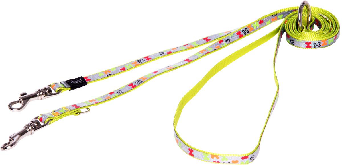Поводок-перестежка для собак Rogz Trendy, цвет: салатовый, ширина 0,8 см поводок перестежка для собак rogz yo yo цвет розовый ширина 1 6 см размер m