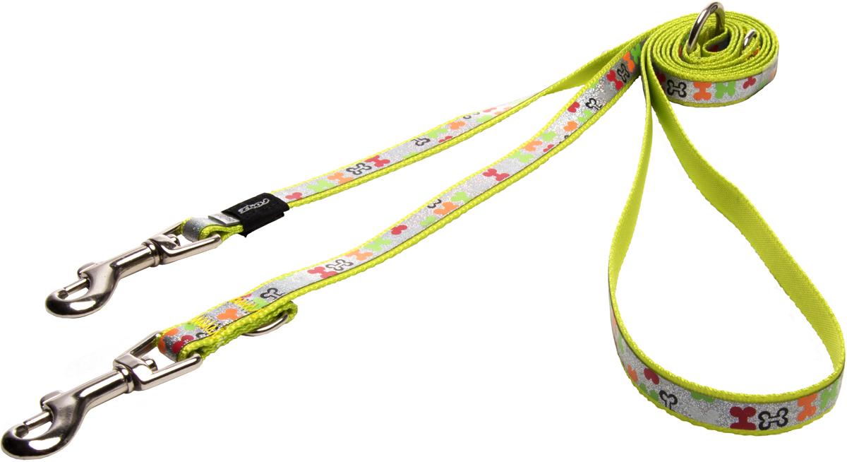 Поводок-перестежка для собак Rogz Trendy, цвет: салатовый, ширина 1,2 см
