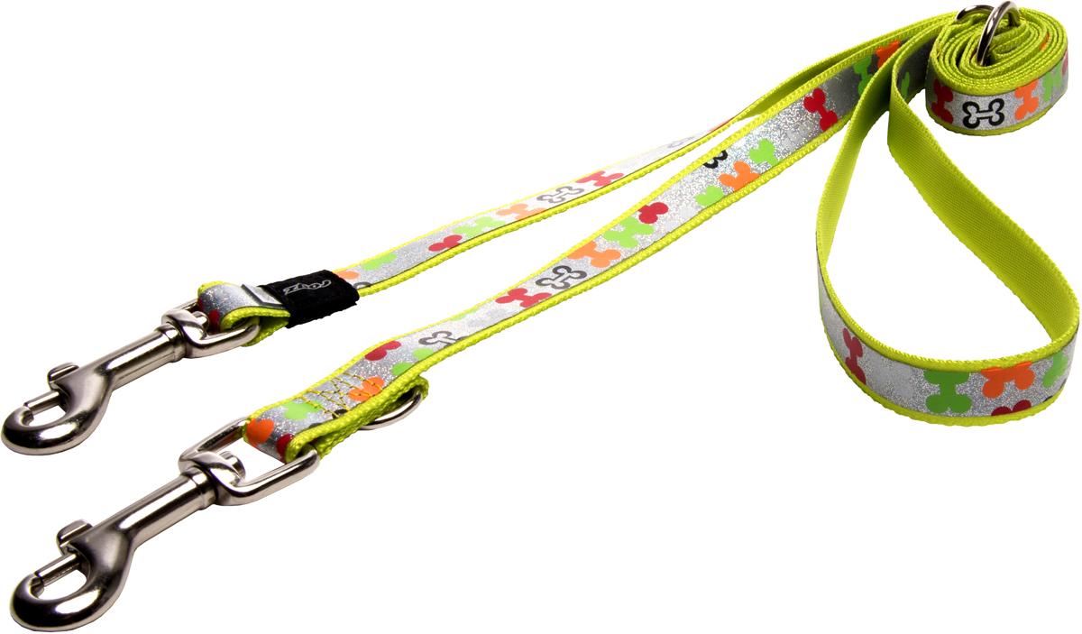 Поводок-перестежка для собак Rogz Trendy, цвет: салатовый, ширина 1,6 см поводок перестежка для собак rogz yo yo цвет розовый ширина 1 6 см размер m
