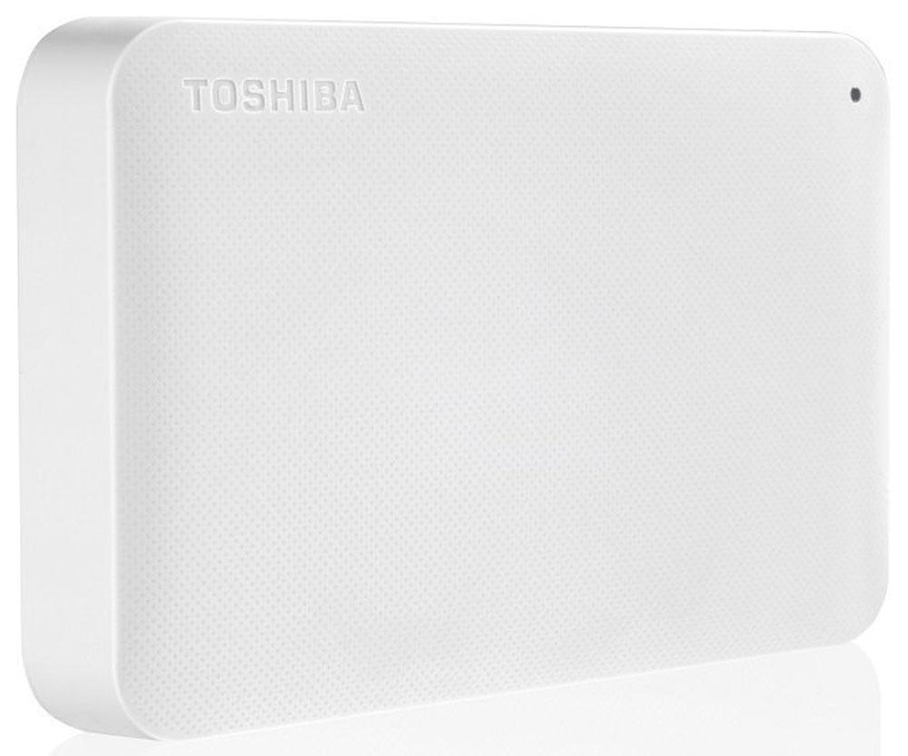 Toshiba Canvio Ready 2TB, White внешний жесткий диск (HDTP220EW3CA)HDTP220EW3CAВнешний жесткий диск Toshiba Canvio Ready отличается высокими показателями по быстроте деятельности. Практически в течение считанных мгновений у вас появятся доступы к интересующим информационным данным. Такой результат достигается за счет эффективности действия интерфейса USB 3.0.Теперь вы сможете вести запись данных на скорости, равной 5 Гбит/с, что позволит копировать большие файлы в кратчайшие сроки. Обратная совместимость с интерфейсом USB 2.0 гарантирует стабильную работу с оборудованием предыдущего поколения: при помощи Canvio Ready удобно переносить информацию со старого компьютера на новый.Пропускная способность интерфейса: 5 Гбит/сек Поддержка ОС: Windows 10, Windows 8, Windows 7