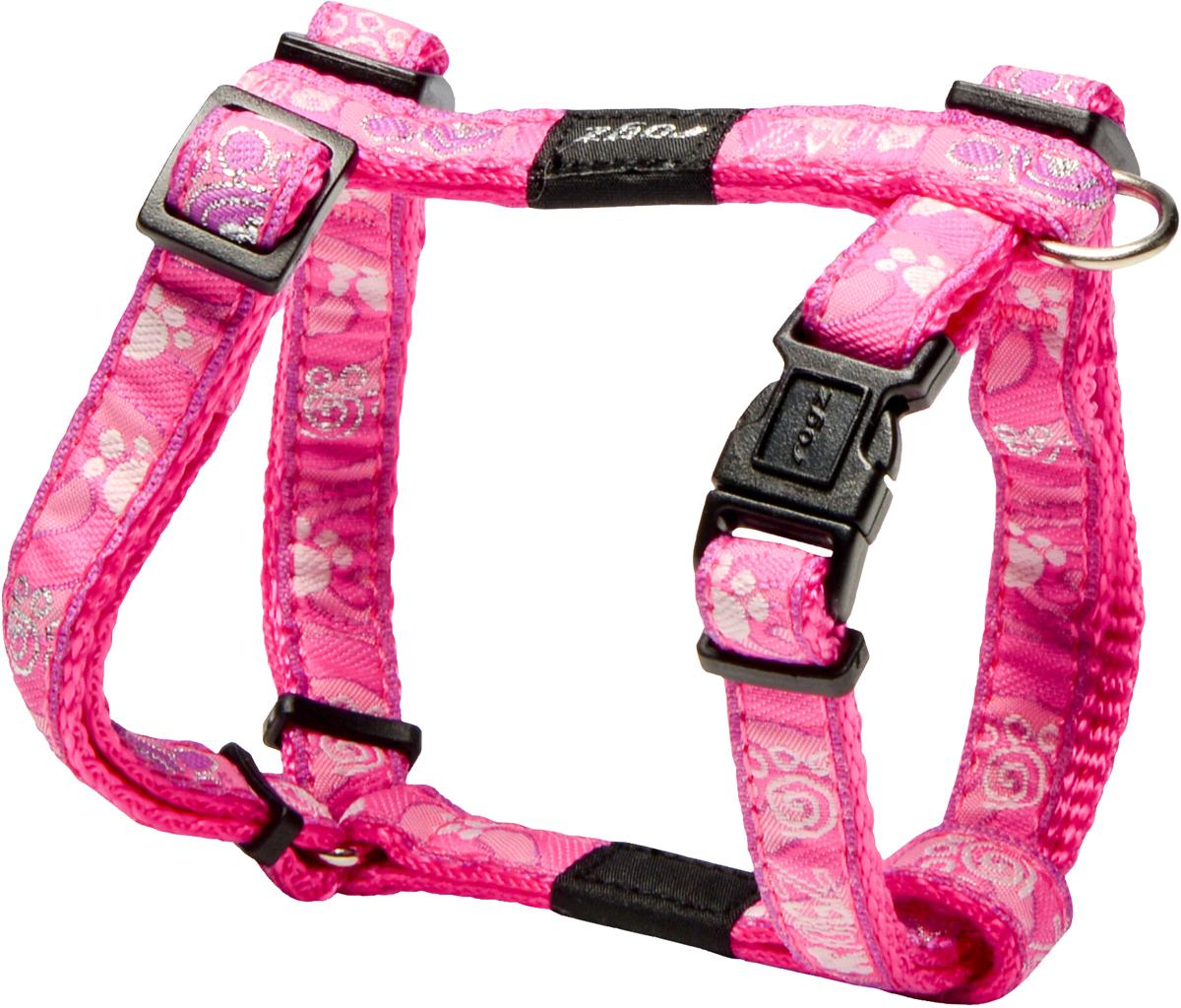 Шлейка для собак Rogz Fancy Dress, цвет: розовый, ширина 1,1 смSJ01CAШлейка для собак Rogz Fancy Dress имеет необычный дизайн. Широкая гамма потрясающе красивых орнаментов на прочной тесьме поверх нейлоновой ленты украсит вашего питомца.Застегивается, не доставляя неудобство собаке.Специальная конструкция пряжки Rog Loc - очень крепкая(система Fort Knox). Замок может быть расстегнут только рукой человека.С помощью системы ремней изделие подгоняется под животного индивидуально.Необыкновенно крепкая и прочная шлейка.Выполненные по заказу литые кольца выдерживают значительные физические нагрузки и имеют хромирование, нанесенное гальваническим способом, что позволяет избежать коррозии и потускнения изделия.Легко можно прикрепить к ошейнику и поводку.