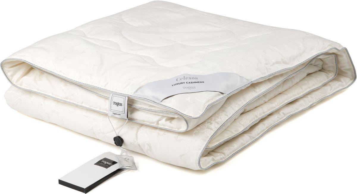 Одеяло Togas Селеста, 140 х 200 см20.04.17.0078СЕЛЕСТА одеяло. Наполнитель: ШерстьСостав: чехол: 52% шелк, 48% хлопок, жаккард, 23 мм; наполнитель: 100% белый кашемир 200гр/м2Степень тепла: Всесезонные одеялаКомплектация: 1 одеялоРазмер: 140x200 (см). Уход: не стирать, не отбеливать, не гладить, сухая чистка, не сушить.