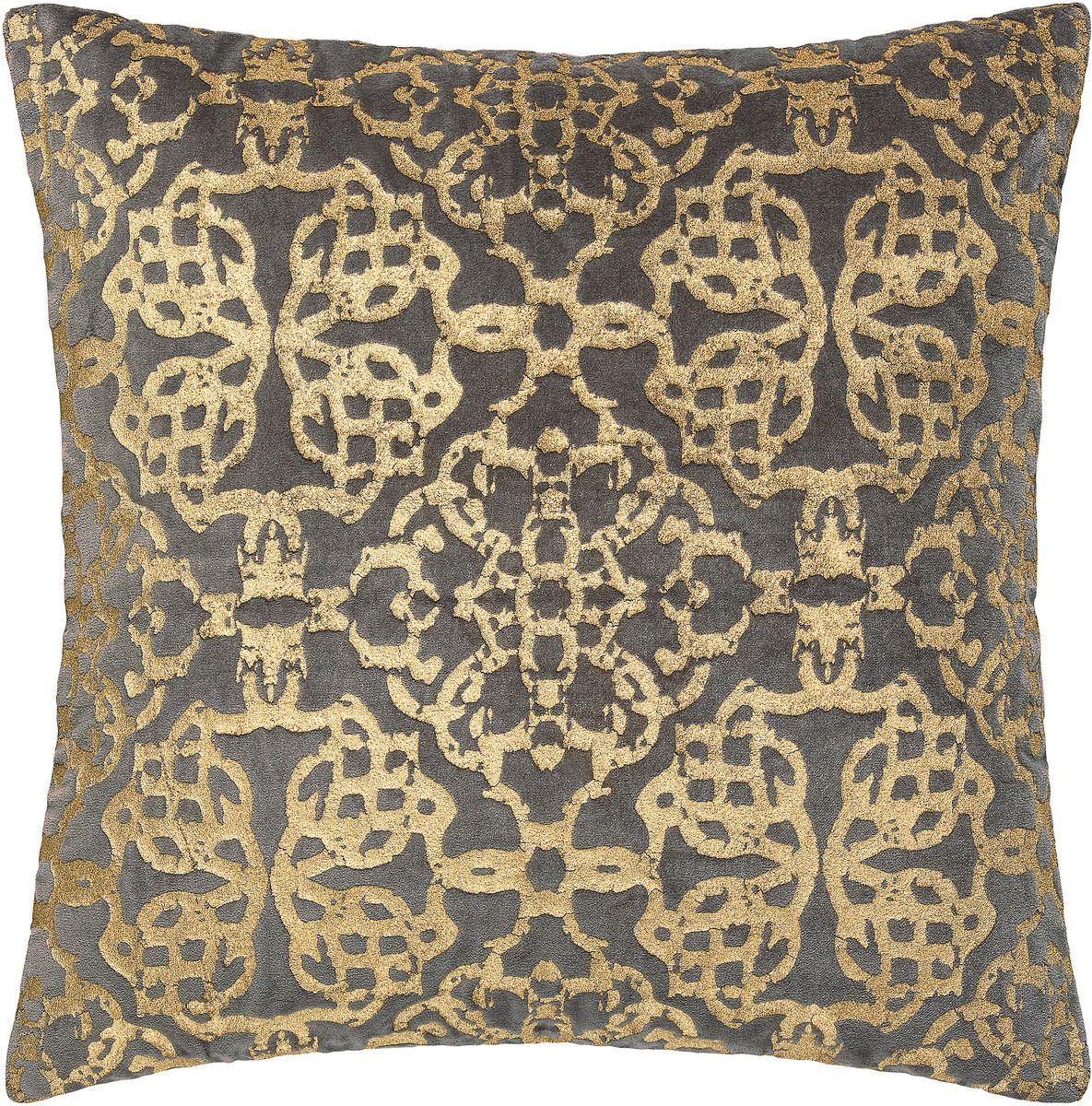 Подушка декоративная Togas Шарлотта, цвет: темно-серый, 45 х 45 см подушка декоративная togas пагода наполнитель полиэфир цвет синий золотой 45 х 45 см