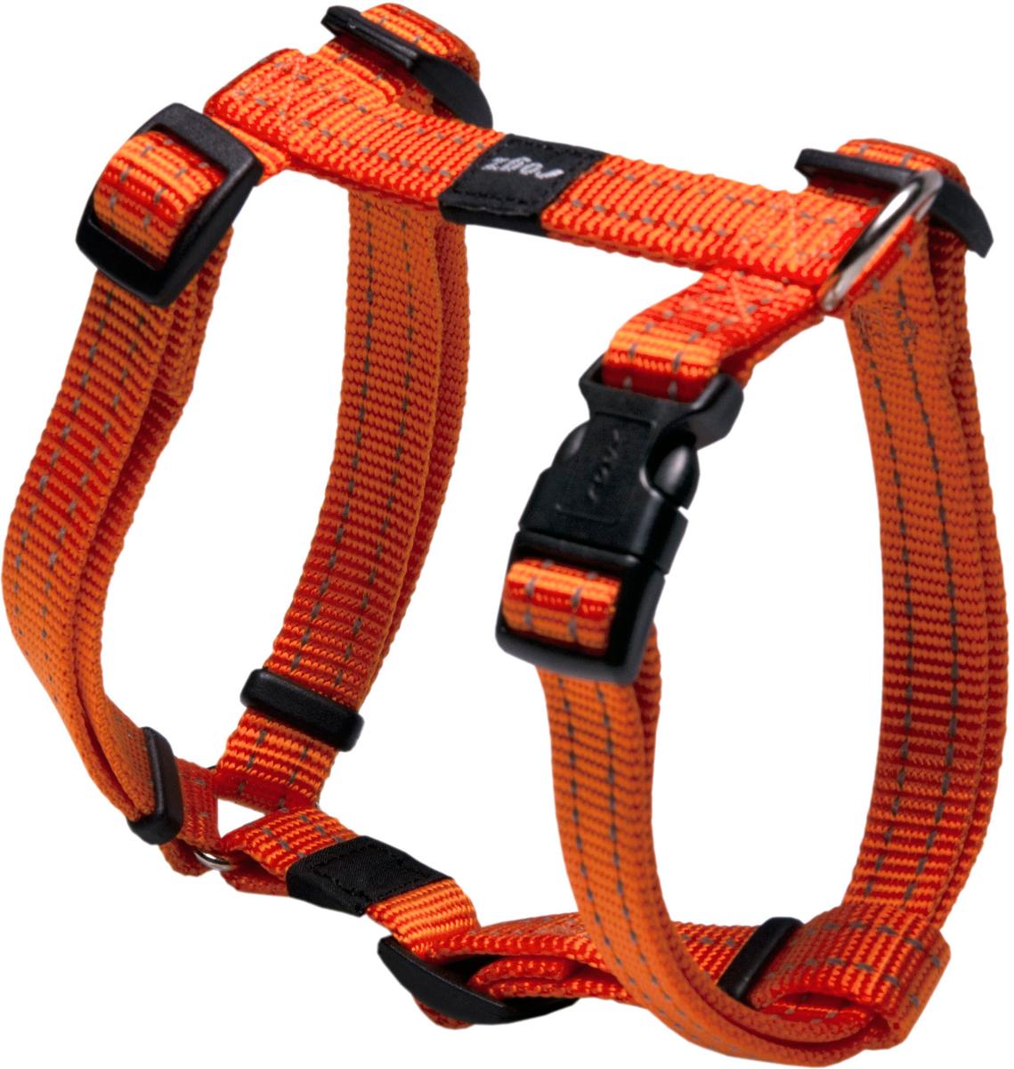 Шлейка для собак Rogz  Utility , цвет: оранжевый, ширина 1,6 см. Размер M