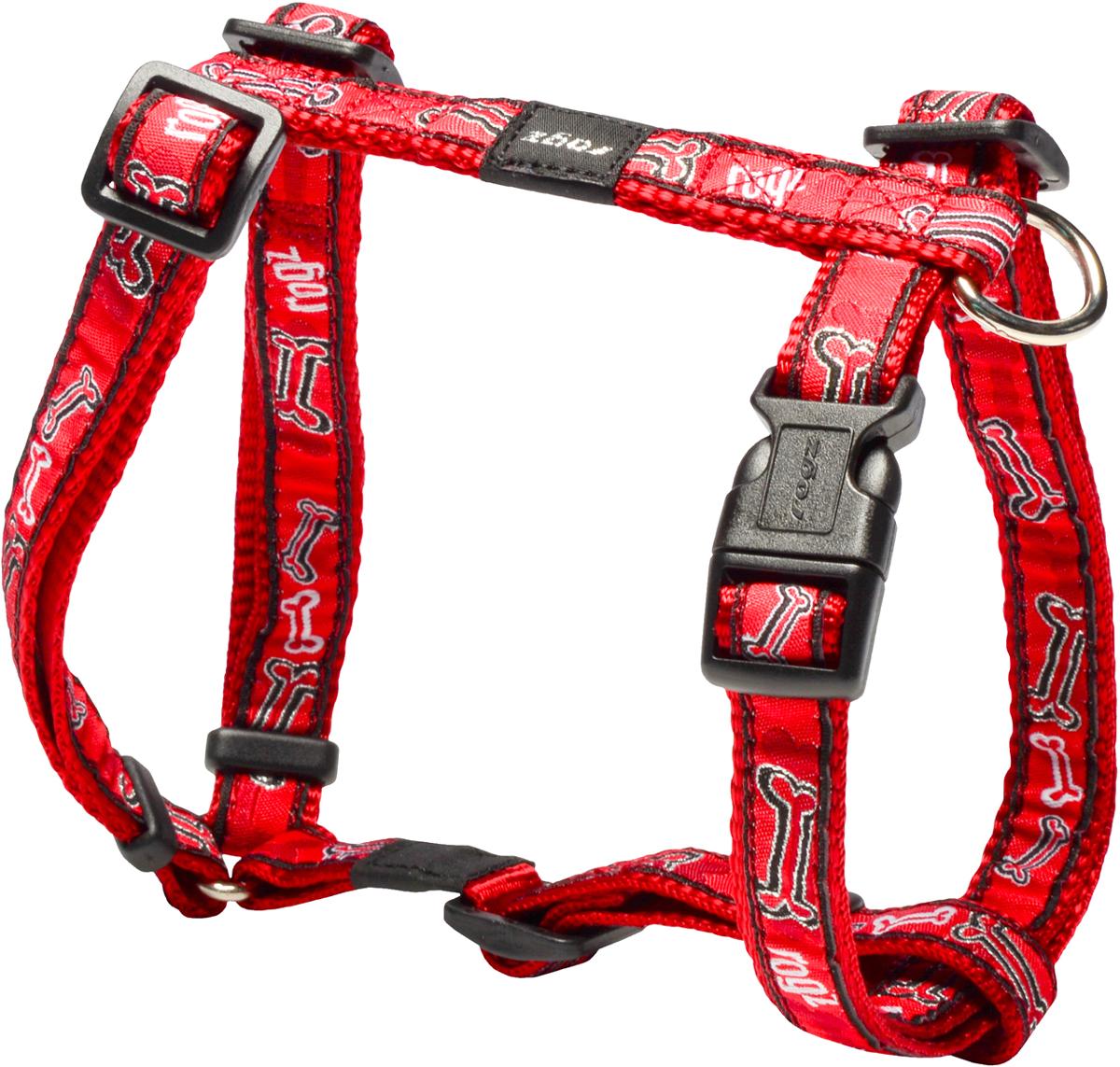 Шлейка для собак Rogz Fancy Dress, цвет: красный, ширина 1,6 см. Размер МSJ12CCШлейка для собак Rogz Fancy Dress имеет необычный дизайн. Широкая гамма потрясающе красивых орнаментов на прочной тесьме поверх нейлоновой ленты украсит вашего питомца.Застегивается, не доставляя неудобство собаке.Специальная конструкция пряжки Rog Loc - очень крепкая(система Fort Knox). Замок может быть расстегнут только рукой человека.С помощью системы ремней изделие подгоняется под животного индивидуально.Необыкновенно крепкая и прочная шлейка.Выполненные по заказу литые кольца выдерживают значительные физические нагрузки и имеют хромирование, нанесенное гальваническим способом, что позволяет избежать коррозии и потускнения изделия.Легко можно прикрепить к ошейнику и поводку.На обхват груди: 32 - 52 см.