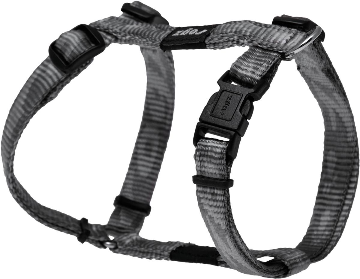 Шлейка для собак Rogz Alpinist, цвет: серый, ширина 1,1 см. Размер SSJ21LОсобо мягкая, но очень прочная шлейка для собак Rogz Alpinist обеспечит безопасность на прогулке даже самым активным собакам.Все соединения деталей имеют специальную дополнительную строчку для большей прочности.Специальная конструкция пряжки Rog Loc - очень крепкая (система Fort Knox). Замок может быть расстегнут только рукой человека. Технология распределения нагрузки позволяет снизить нагрузку на пряжки, изготовленные из титанового пластика, с помощью правильного и разумного расположения грузовых колец, благодаря чему, даже при самых сильных рывках, изделие не рвется и не деформируется.Выполненные специально по заказу Rogz литые кольца гальванически хромированы, что позволяет избежать коррозии и потускнения изделия.