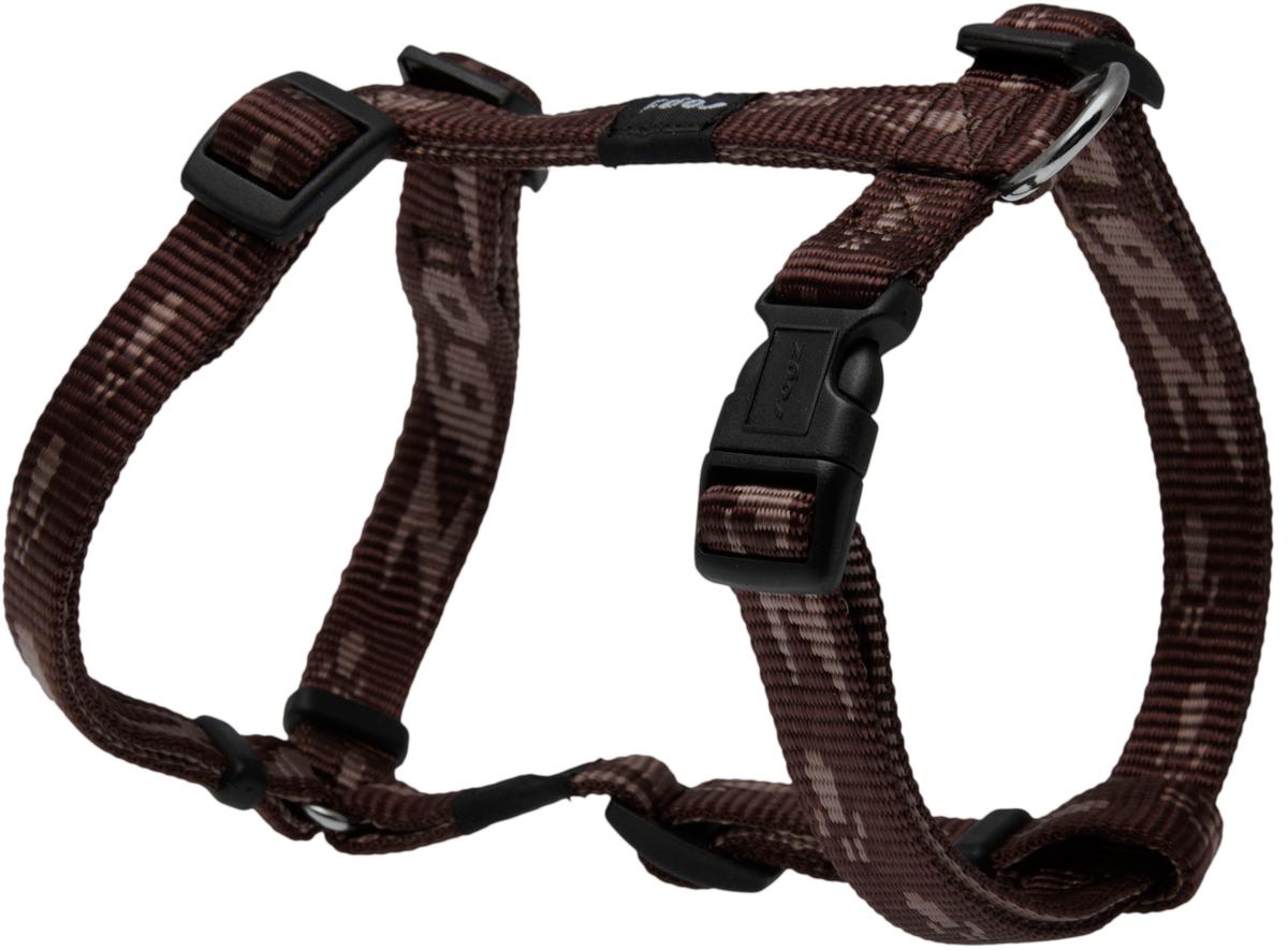 Шлейка для собак Rogz  Alpinist , цвет: коричневый, ширина 1,6 см. Размер M
