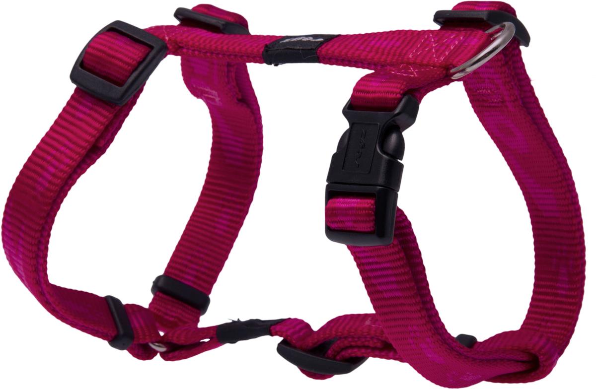 Шлейка для собак Rogz  Alpinist , цвет: розовый, ширина 1,6 см. Размер M
