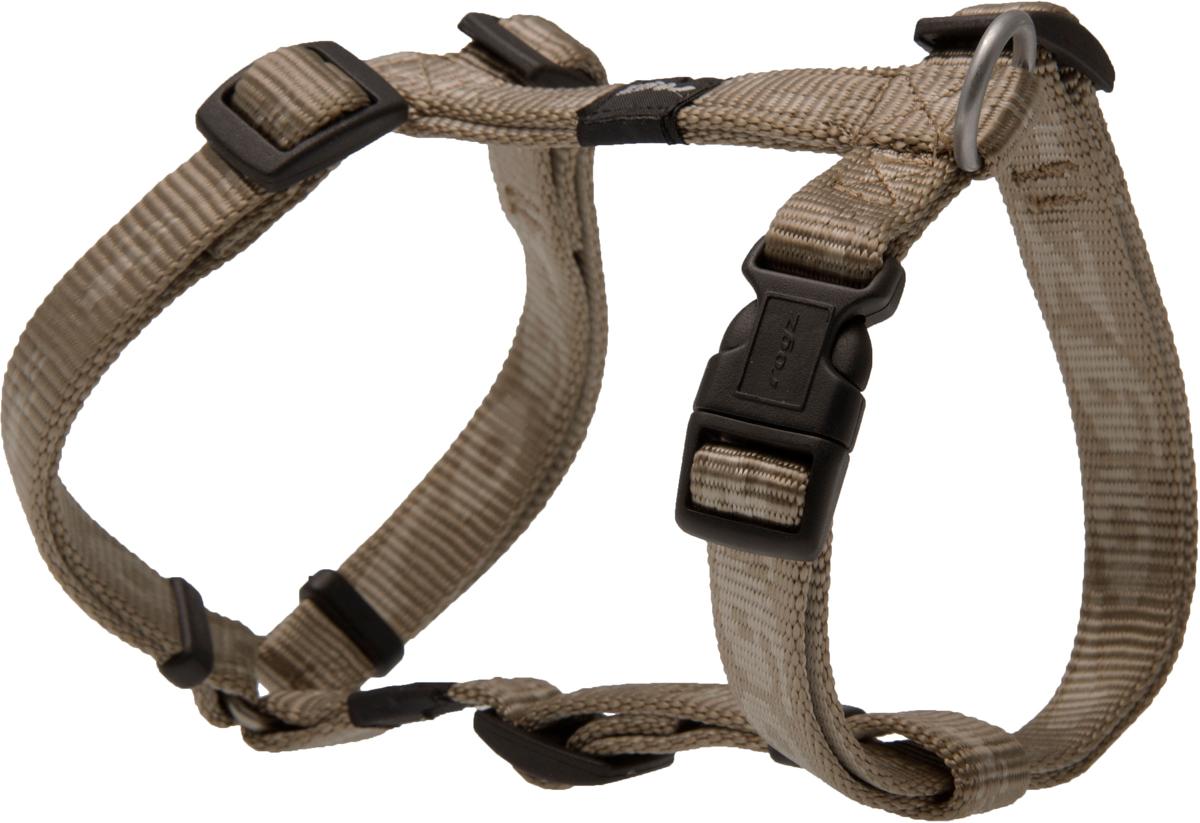 Шлейка для собак Rogz  Alpinist , цвет: золотистый, ширина 1,6 см. Размер M