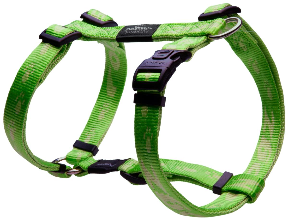 Шлейка для собак Rogz  Alpinist , цвет: зеленый, ширина 2 см. Размер L