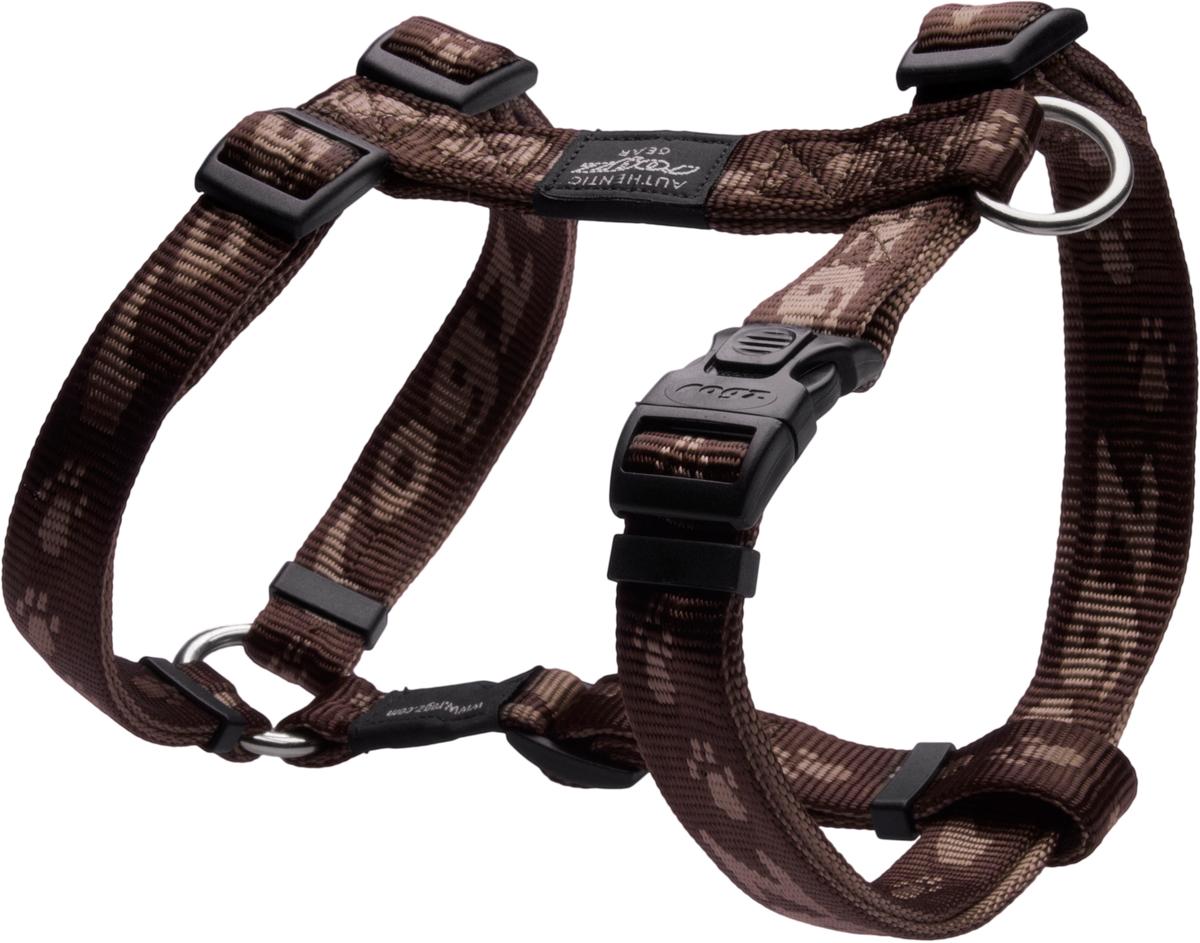 Шлейка для собак Rogz Alpinist, цвет: коричневый, ширина 2 см. Размер LSJ25JОсобо мягкая, но очень прочная шлейка для собак Rogz Alpinist обеспечит безопасность на прогулке даже самым активным собакам.Все соединения деталей имеют специальную дополнительную строчку для большей прочности.Специальная конструкция пряжки Rog Loc - очень крепкая (система Fort Knox). Замок может быть расстегнут только рукой человека. Технология распределения нагрузки позволяет снизить нагрузку на пряжки, изготовленные из титанового пластика, с помощью правильного и разумного расположения грузовых колец, благодаря чему, даже при самых сильных рывках, изделие не рвется и не деформируется.Выполненные специально по заказу Rogz литые кольца гальванически хромированы, что позволяет избежать коррозии и потускнения изделия.