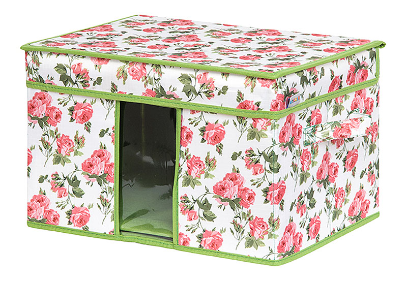 Кофр для хранения вещей EL Casa Розовый рассвет, складной, 40 х 30 х 25 см840343Кофр для хранения с ручками. Прозрачная вставка позволяет видеть содержимое кофра. Благодаря эстетичному дизайну кофр гармонично смотрится в любом интерьере.
