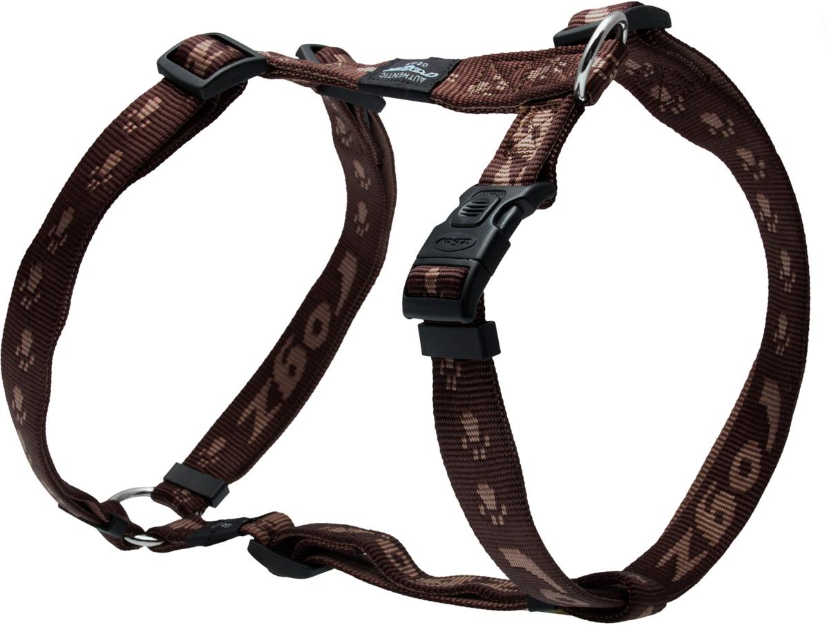 Шлейка для собак Rogz Alpinist, цвет: коричневый, ширина 2,5 см. Размер XLSJ27JОсобо мягкая, но очень прочная шлейка для собак Rogz Alpinist обеспечит безопасность на прогулке даже самым активным собакам.Все соединения деталей имеют специальную дополнительную строчку для большей прочности.Специальная конструкция пряжки Rog Loc - очень крепкая (система Fort Knox). Замок может быть расстегнут только рукой человека. Технология распределения нагрузки позволяет снизить нагрузку на пряжки, изготовленные из титанового пластика, с помощью правильного и разумного расположения грузовых колец, благодаря чему, даже при самых сильных рывках, изделие не рвется и не деформируется.Выполненные специально по заказу Rogz литые кольца гальванически хромированы, что позволяет избежать коррозии и потускнения изделия.