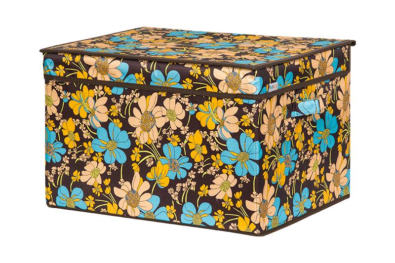 Кофр для хранения вещей EL Casa Ромашковое поле, складной, 45 х 36 х 30 см840356Кофр для хранения представляет собой закрывающуюся крышкой коробку жесткой конструкции, благодаря наличию внутри плотных листов картона. Специально предназначен для защиты одежды от воздействия негативных внешних факторов: влаги и сырости, моли, выгорания, грязиБлагодаря оригинальному дизайну кофр будет гармонично смотреться в любом интерьере.