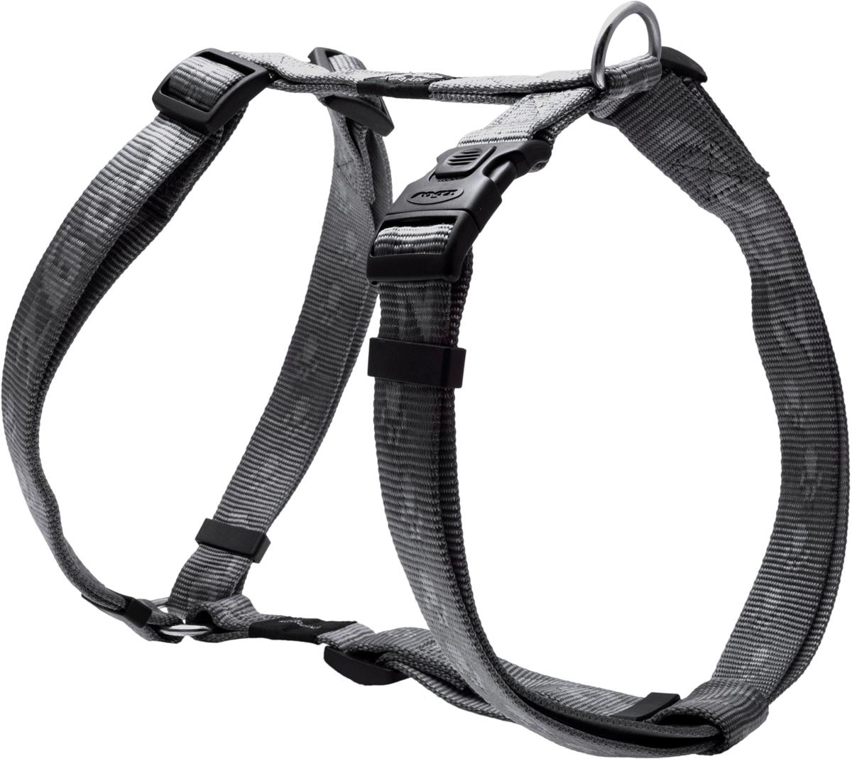 Шлейка для собак Rogz Alpinist, цвет: серый, ширина 2,5 см. Размер XLSJ27LОсобо мягкая, но очень прочная шлейка для собак Rogz Alpinist обеспечит безопасность на прогулке даже самым активным собакам.Все соединения деталей имеют специальную дополнительную строчку для большей прочности.Специальная конструкция пряжки Rog Loc - очень крепкая (система Fort Knox). Замок может быть расстегнут только рукой человека. Технология распределения нагрузки позволяет снизить нагрузку на пряжки, изготовленные из титанового пластика, с помощью правильного и разумного расположения грузовых колец, благодаря чему, даже при самых сильных рывках, изделие не рвется и не деформируется.Выполненные специально по заказу Rogz литые кольца гальванически хромированы, что позволяет избежать коррозии и потускнения изделия.