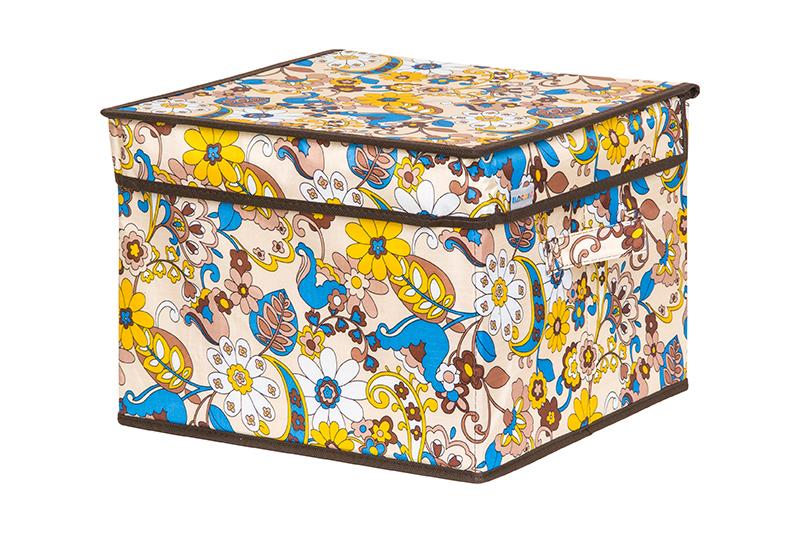 Кофр для хранения вещей EL Casa Сияние лета, складной, 32 х 32 х 24 см840333Кофр для хранения представляет собой закрывающуюся крышкой коробку жесткой конструкции, благодаря наличию внутри плотных листов картона. Специально предназначен для защиты Вашей одежды от воздействия негативных внешних факторов: влаги и сырости, моли, выгорания, грязи. Благодаря оригинальному дизайну кофр будет гармонично смотреться в любом интерьере.