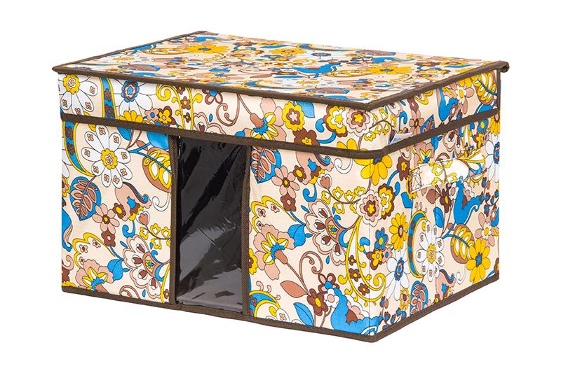 Кофр для хранения вещей EL Casa Сияние лета, складной, 40 х 30 х 25 см840344Кофр для хранения вещей EL Casa Сияние лета представляет собой закрывающуюся крышкой коробку с ручками, которая имеет жесткую конструкцию. Изделие специально предназначено для хранения нижнего белья, колготок, носков и другой одежды. Благодаря оригинальному дизайну кофр будет гармонично смотреться в любом интерьере.Размер:40 х 30 х 25 см.
