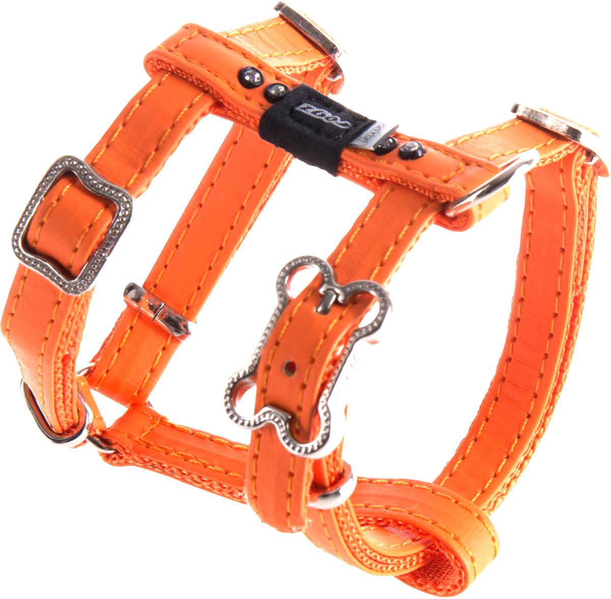 Шлейка для собак Rogz Luna, цвет: оранжевый, ширина 1,1 см. Размер XSSJ500DШлейка для собак Rogz Luna обладает нежнейшей мягкостью и гибкостью.Авторский дизайн, яркие цвета, изысканные декоративные элементы со стразами.Шлейка подчеркнет индивидуальность вашей собаки.