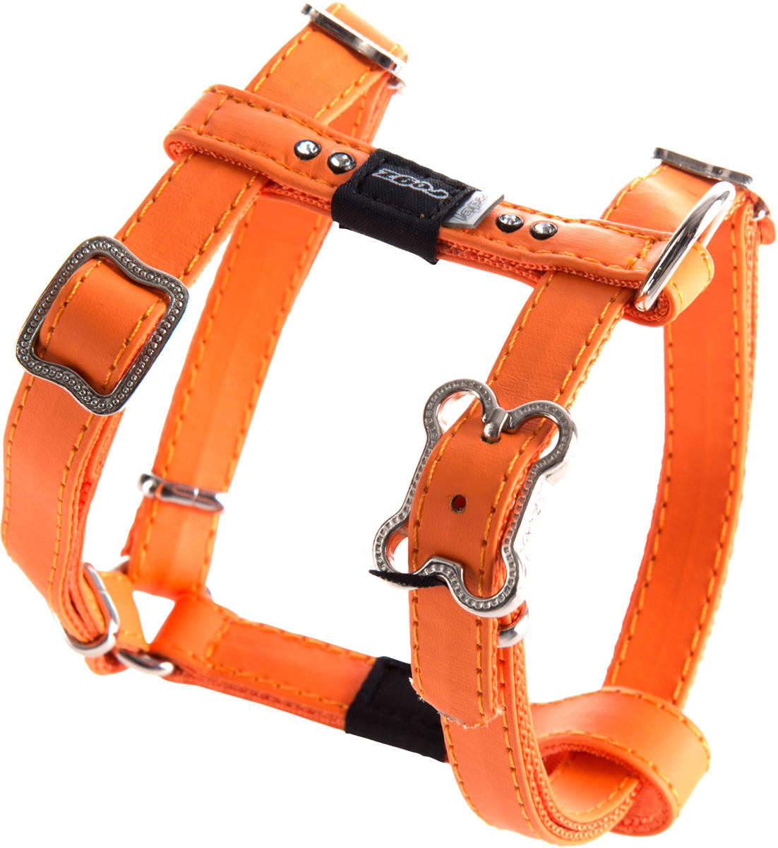 Шлейка для собак Rogz  Luna , цвет: оранжевый, ширина 1,3 см. Размер S - Товары для прогулки и дрессировки (амуниция)