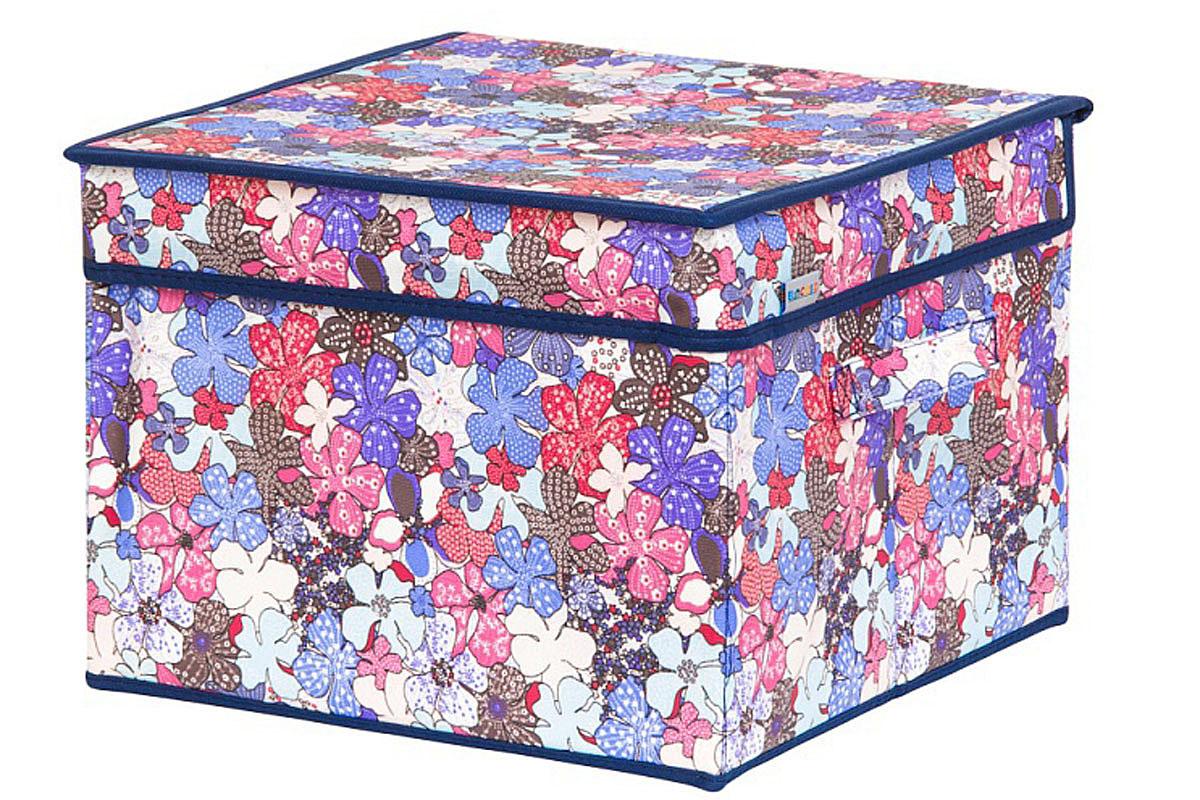 Кофр для хранения вещей EL Casa Цветочное созвездие, складной, 32 х 32 х 24 см840337Кофр для хранения представляет собой закрывающуюся крышкой коробку жесткой конструкции, благодаря наличию внутри плотных листов картона. Специально предназначен для защиты одежды от воздействия негативных внешних факторов: влаги и сырости, моли, выгорания, грязиБлагодаря оригинальному дизайну кофр будет гармонично смотреться в любом интерьере.