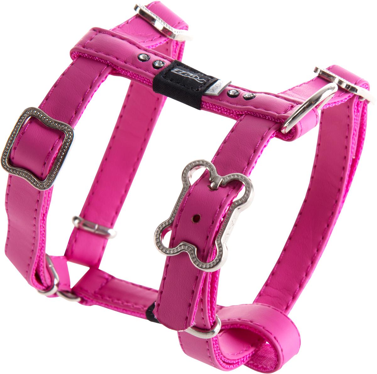 Шлейка для собак Rogz Luna, цвет: розовый, ширина 1,3 см. Размер SSJ501KШлейка для собак Rogz Luna обладает нежнейшей мягкостью и гибкостью.Авторский дизайн, яркие цвета, изысканные декоративные элементы со стразами.Шлейка подчеркнет индивидуальность вашей собаки.