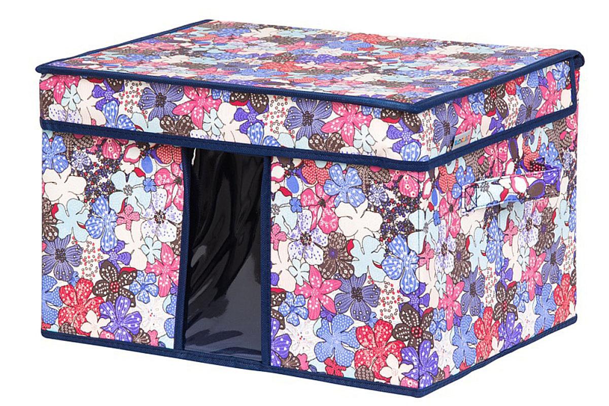 Кофр для хранения вещей EL Casa Цветочное созвездие, складной, 40 х 30 х 25 см840348Кофр для хранения с ручками представляет собой закрывающуюся крышкой коробку жесткой конструкции, благодаря наличию внутри плотных листов картона. Специально предназначен для защиты одежды от воздействия негативных внешних факторов: влаги и сырости, моли, выгорания, грязиПрозрачная вставка позволяет видеть содержимое кофраБлагодаря оригинальному дизайну кофр будет гармонично смотреться в любом интерьере.