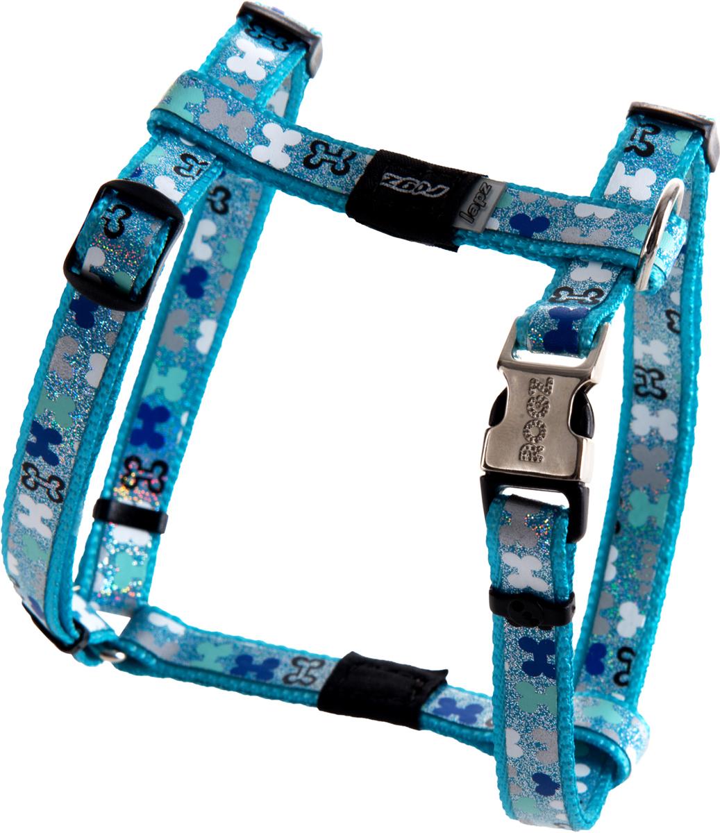 Шлейка для собак Rogz Trendy, цвет: голубой, ширина 1,2 см. Размер SSJ521BШлейка для собак Rogz Trendy обладает нежнейшей мягкостью и гибкостью.Светоотражающие материалы для обеспечения лучшей видимости собаки в темное время суток.