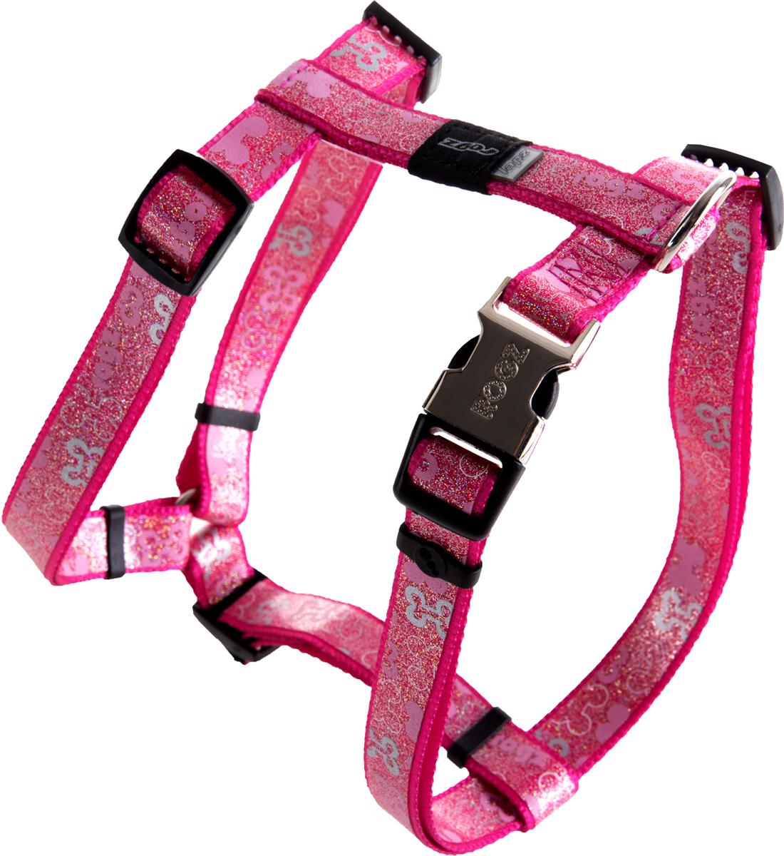 Шлейка для собак Rogz Trendy, цвет: розовый, ширина 1,6 см. Размер MSJ523KШлейка для собак Rogz Trendy обладает нежнейшей мягкостью и гибкостью.Светоотражающие материалы для обеспечения лучшей видимости собаки в темное время суток.