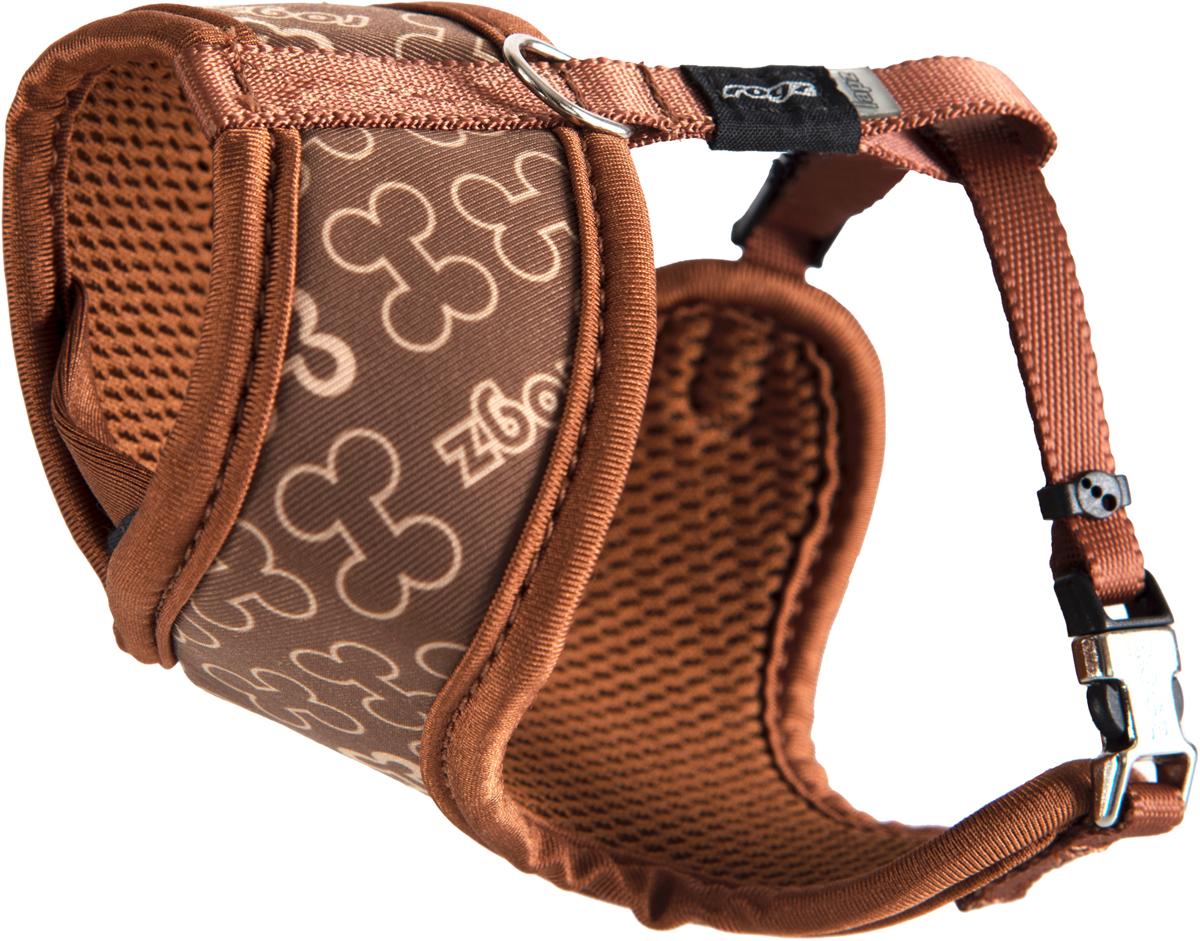 Шлейка-манишка для собак Rogz Trendy, цвет: коричневый. Размер XSWR520JШлейка-манишка для собак Rogz Trendy - мягкость для шеи, удобство и комфорт.Сохраняет шерстку в идеальном состоянии.Широкие элементы изделия позволят равномерно распределить нагрузку на шлейку при рывках, обеспечивая, тем самым, здоровье любимцу и целостность изделию.Шлейка полностью отражает свет.