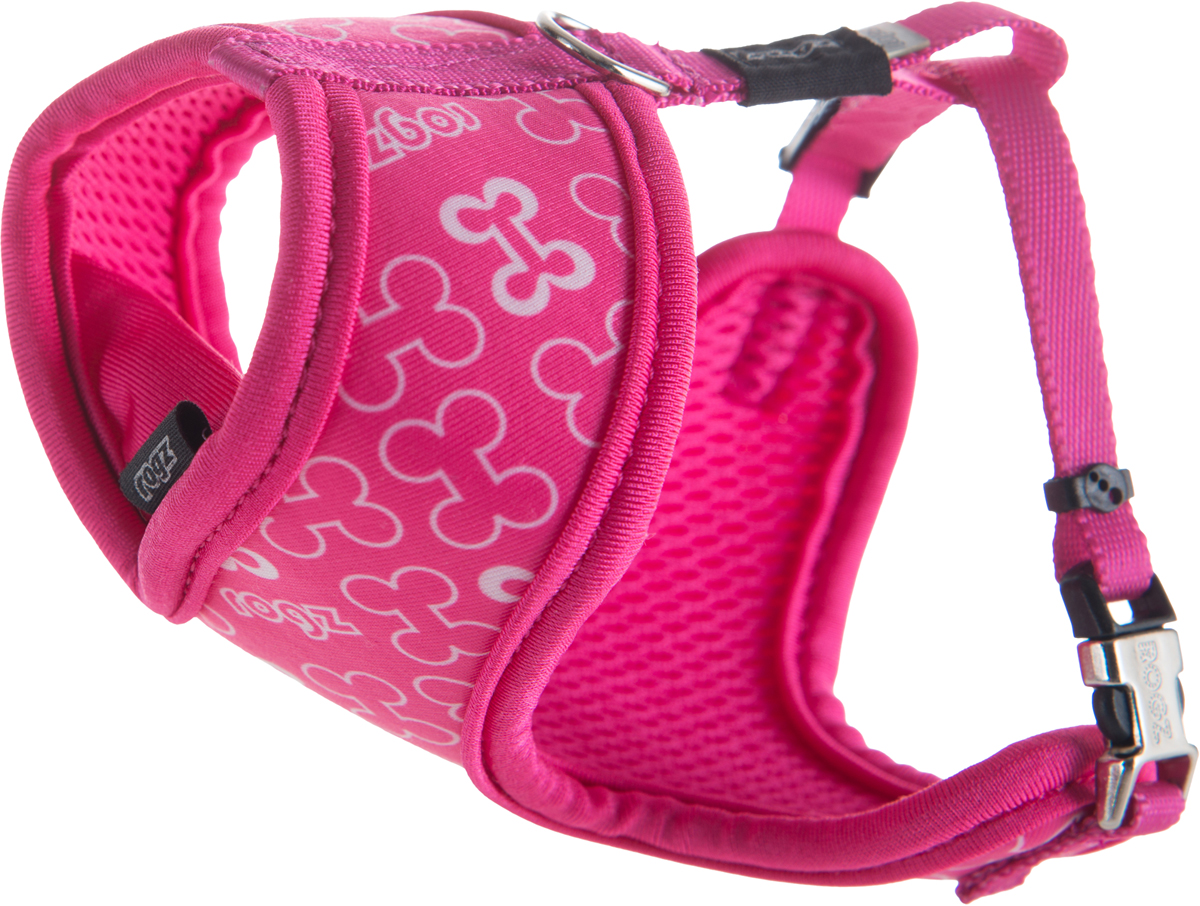 Шлейка-манишка для собак Rogz  Trendy , цвет: розовый. Размер XS