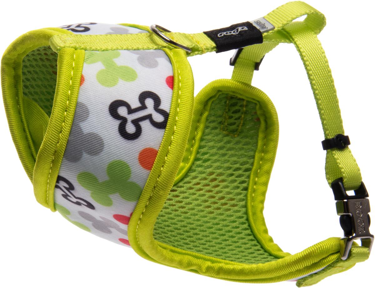 Шлейка-манишка для собак Rogz Trendy, цвет: салатовый. Размер S rogz шлейка для собак rogz utility xl 25мм оранжевый