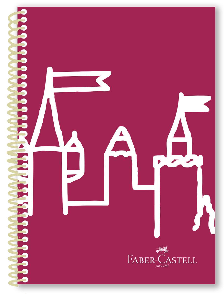 Faber-Castell Блокнот Castle 80 листов в линейку цвет розовый750501плотность бумаги 70 гр/м2 80 листов со спиралью 3 варианта исполнения: в клетку,в линейку, без разметки пластиковая обложка