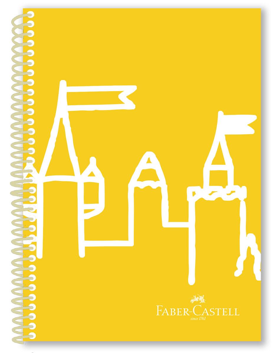 Faber-Castell Блокнот Castle 80 листов в клетку цвет желтый131143плотность бумаги 70 гр/м2 80 листов со спиралью 3 варианта исполнения: в клетку,в линейку, без разметки пластиковая обложка