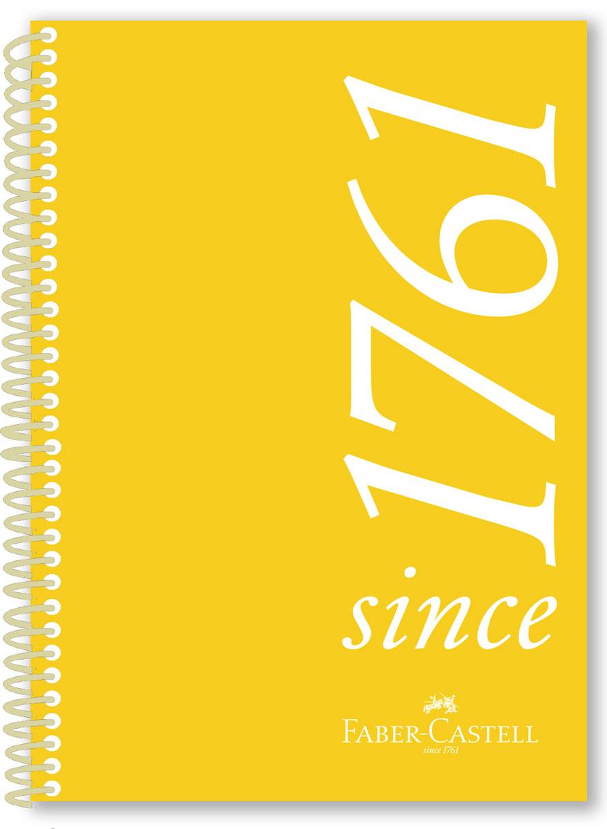 Faber-Castell Блокнот Since 1761 100 листов в клетку цвет желтый131140Оригинальный блокнот Faber-Castell в твердой пластиковой обложке подойдет для памятных записей, любимых стихов и многого другого.Внутренний блок состоит из 100 листов в линейку. Блокнот скреплен спиралью. Такой блокнот станет вашим верным помощником, а также отличным подарком для в близких и друзей.