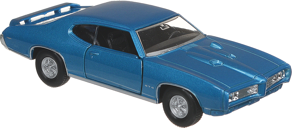Welly Модель автомобиля 69 Pontiac GTO цвет синий motormax модель автомобиля corvette 1967 цвет черный
