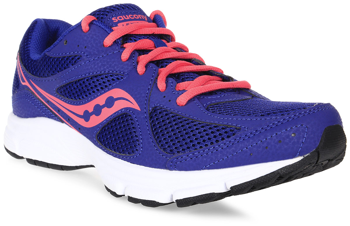 Кроссовки для бега женские Saucony Lexicon 2, цвет: синий, розовый. S15251-7. Размер 8,5 (39)S15251-7Женские кроссовки Saucony Lexicon 2 разработаны для бега c начальным уровнем подготовки. Верх модели выполнен из сетчатого текстиля и полимерных вставок, что обеспечивает хорошую воздухопроницаемость и поддержку. Шнуровка надежно фиксирует обувь на ноге и позволяет регулировать объем. Модель с защитой мыска и усиленной пяткой дополнена мягким бортиком вокруг лодыжки.Внутренний материал кроссовок отлично отводит влагу и создает ногам комфорт.Низкий профиль подошвы обеспечивает отличную чувствительность при беге. Поверхность подошвы дополнена рельефным рисунком, что способствует прекрасному сцеплению.