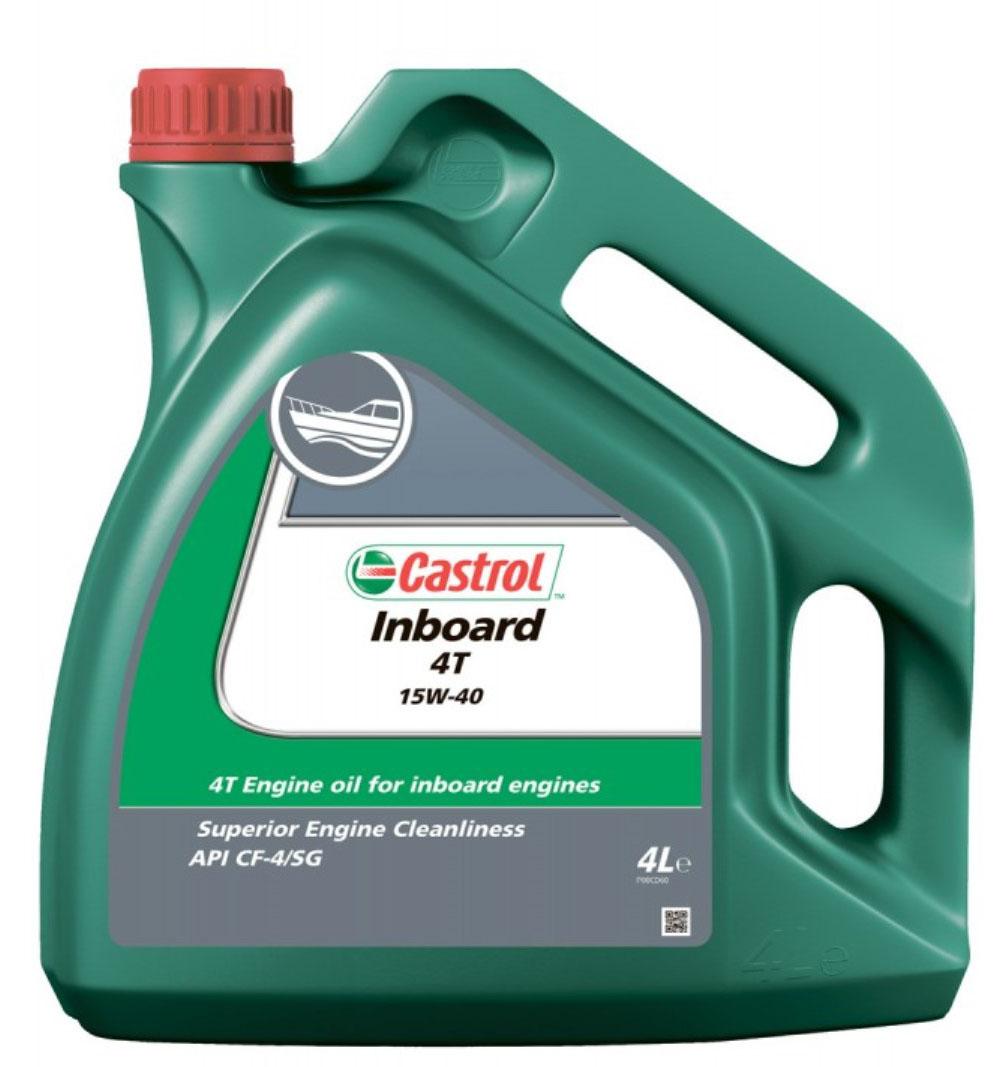 Моторное масло Castrol Inboard 4T, минеральное, 4 л151A13CASTROL Inboard 4T – минеральное масло для высоконагруженных четырёхтактных бензиновых и дизельных двигателей морской и речной техники. Передовые технологии производства присадок и высококачественные базовые масла, используемые при производстве продукта обеспечивают максимальную эффективность работы всех типов четырёхтактных двигателей, где рекомендованы продукты категории качества API SG/CD или CCMC G4/D4. CASTROL Inboard 4T специально разработано для различных уcловий работы двигателей водной техники от длительных стоянок до движения с максимальной скоростью на длинных дистанциях. Содержит парофразный ингибитор коррозии для обеспечения надёжной защиты во время хранения. Соблюдайте рекомендации производителя по обкатке нового или модернизированного двигателя перед тем как использовать высококачественное масло CASTROL Inboard 4T. CASTROL Inboard 4T не используется для двухтактных двигателей.